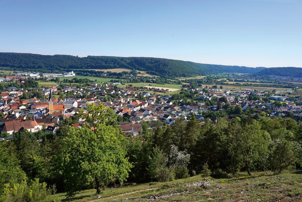 Blick auf die idylische Kleinstadt Dietfurt