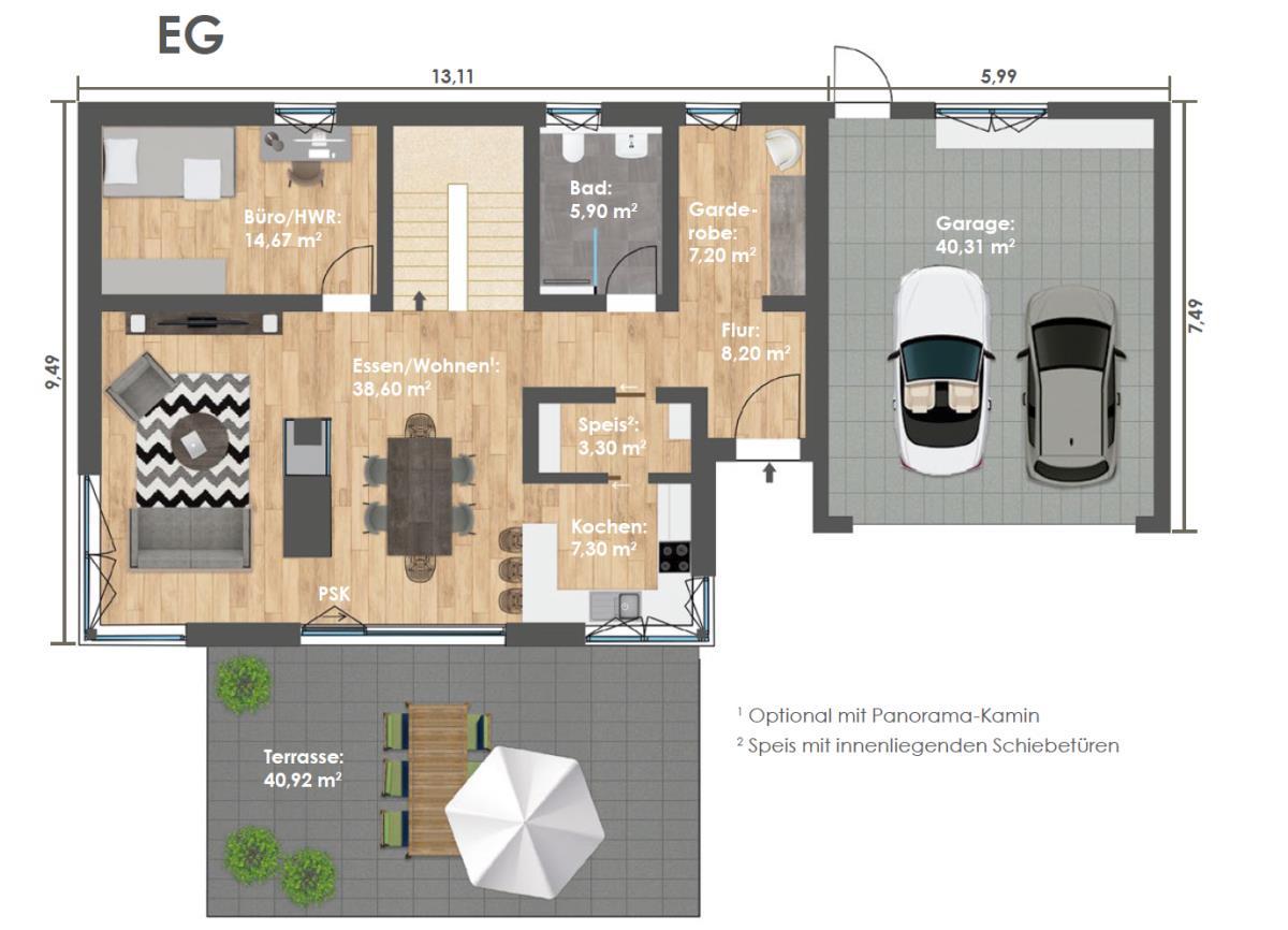 Erdgeschoss HAUS 2a