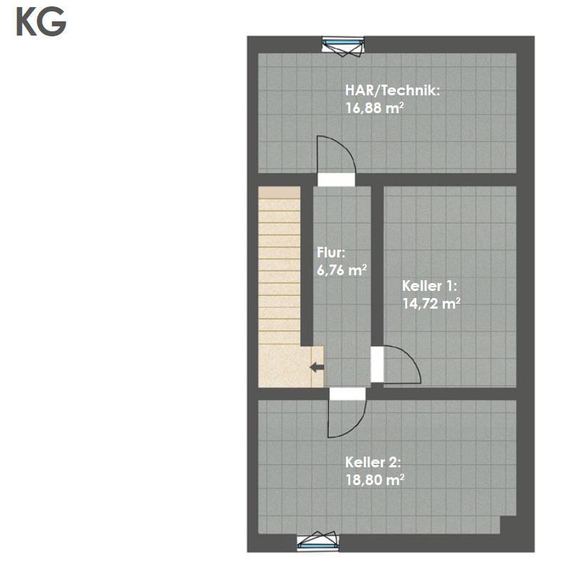 Kellergeschoss DHH B