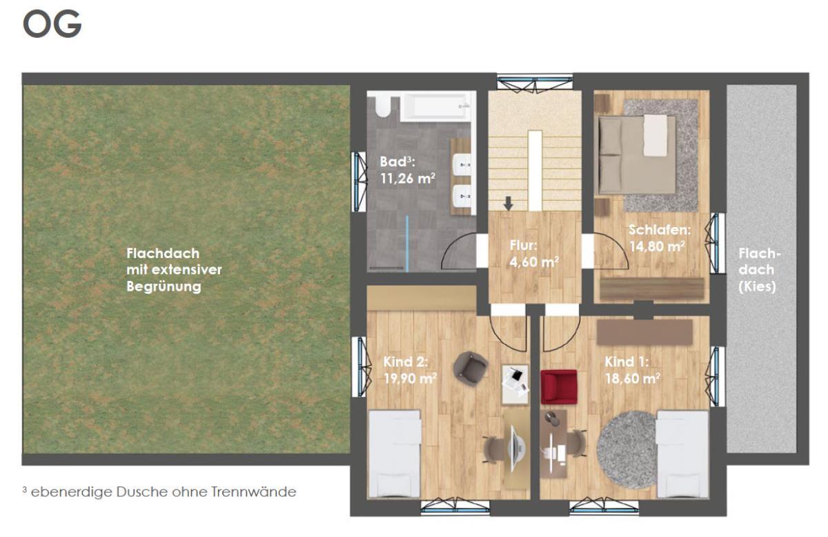 Obergeschoss HAUS 2b