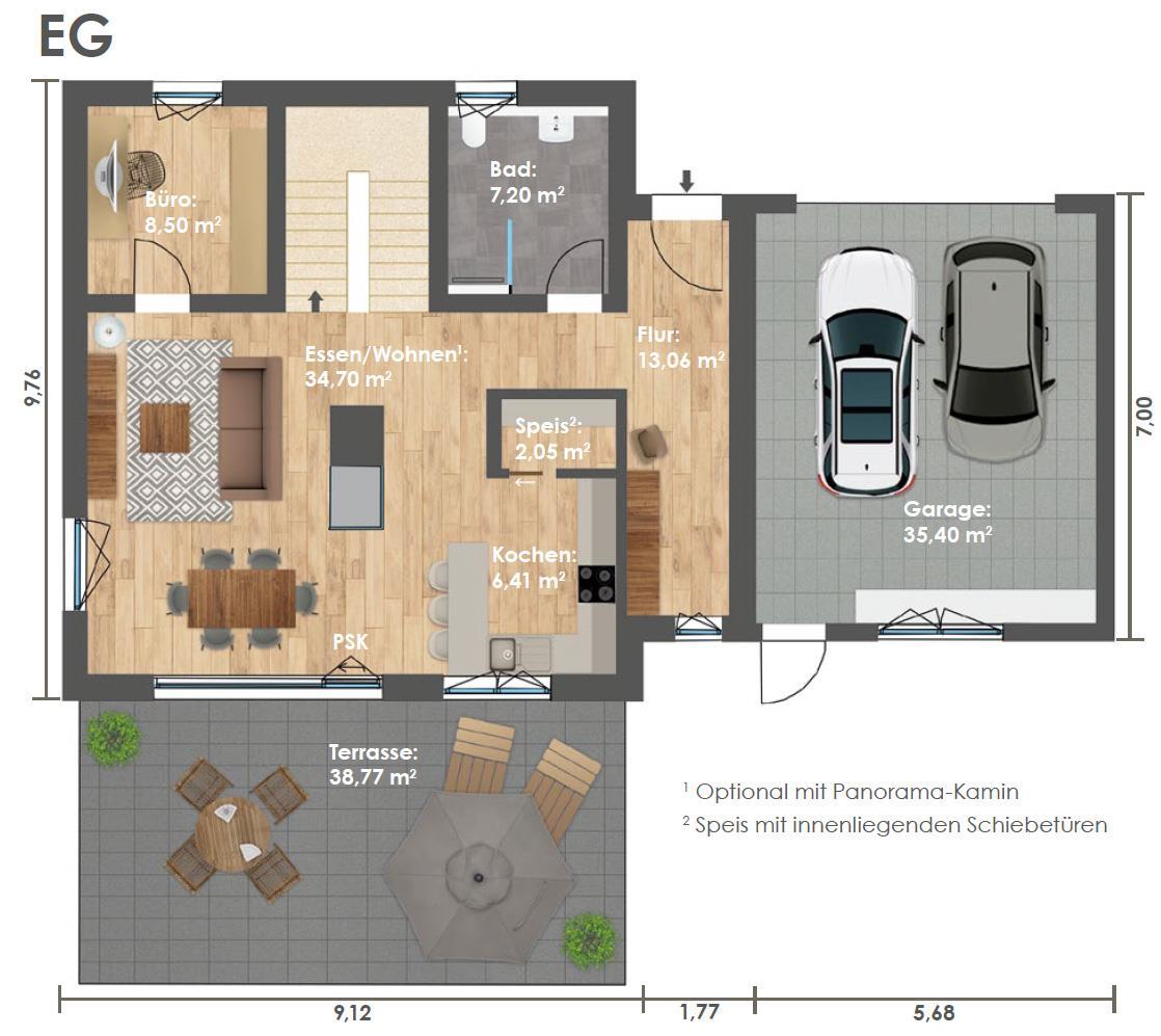 Erdgeschoss HAUS 3a
