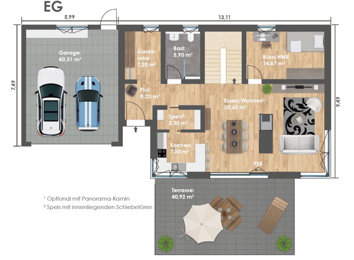 Erdgeschoss HAUS 2b