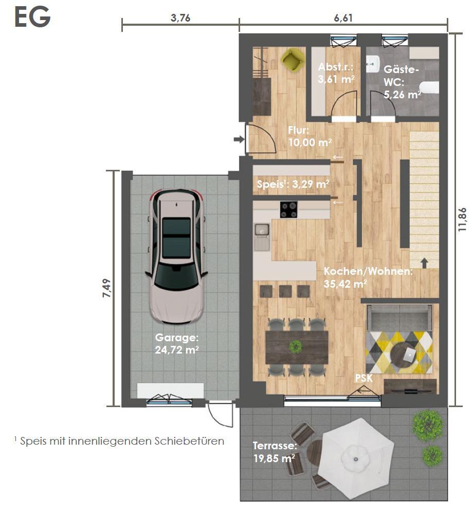 Erdgeschoss DHH C