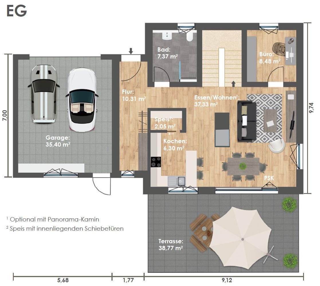 Erdgeschoss HAUS 3b