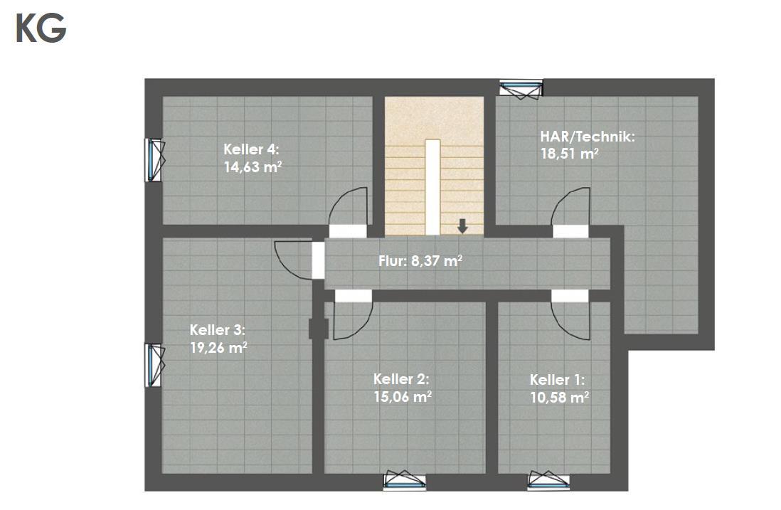 Kellergeschoss HAUS 2a