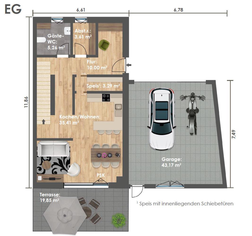 Erdgeschoss DHH D