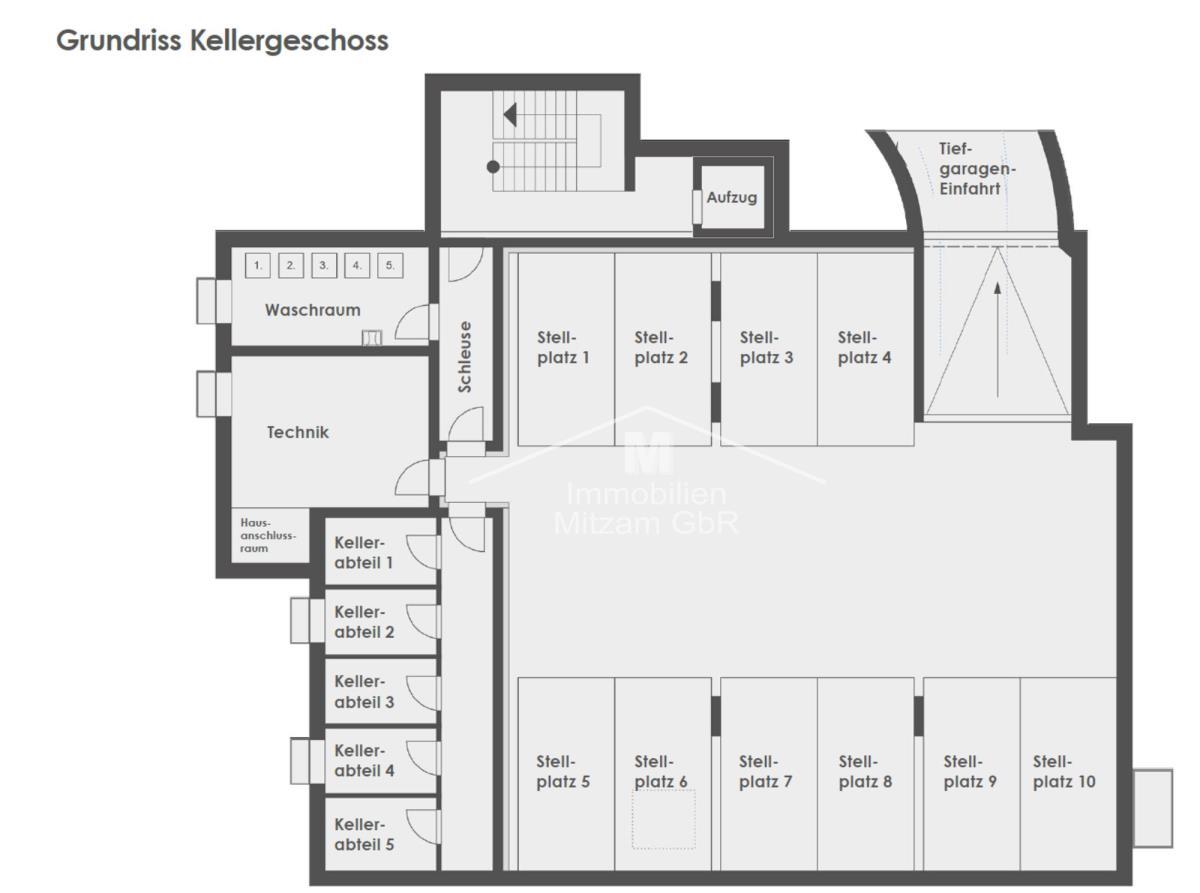 Keller und Tiefgarage