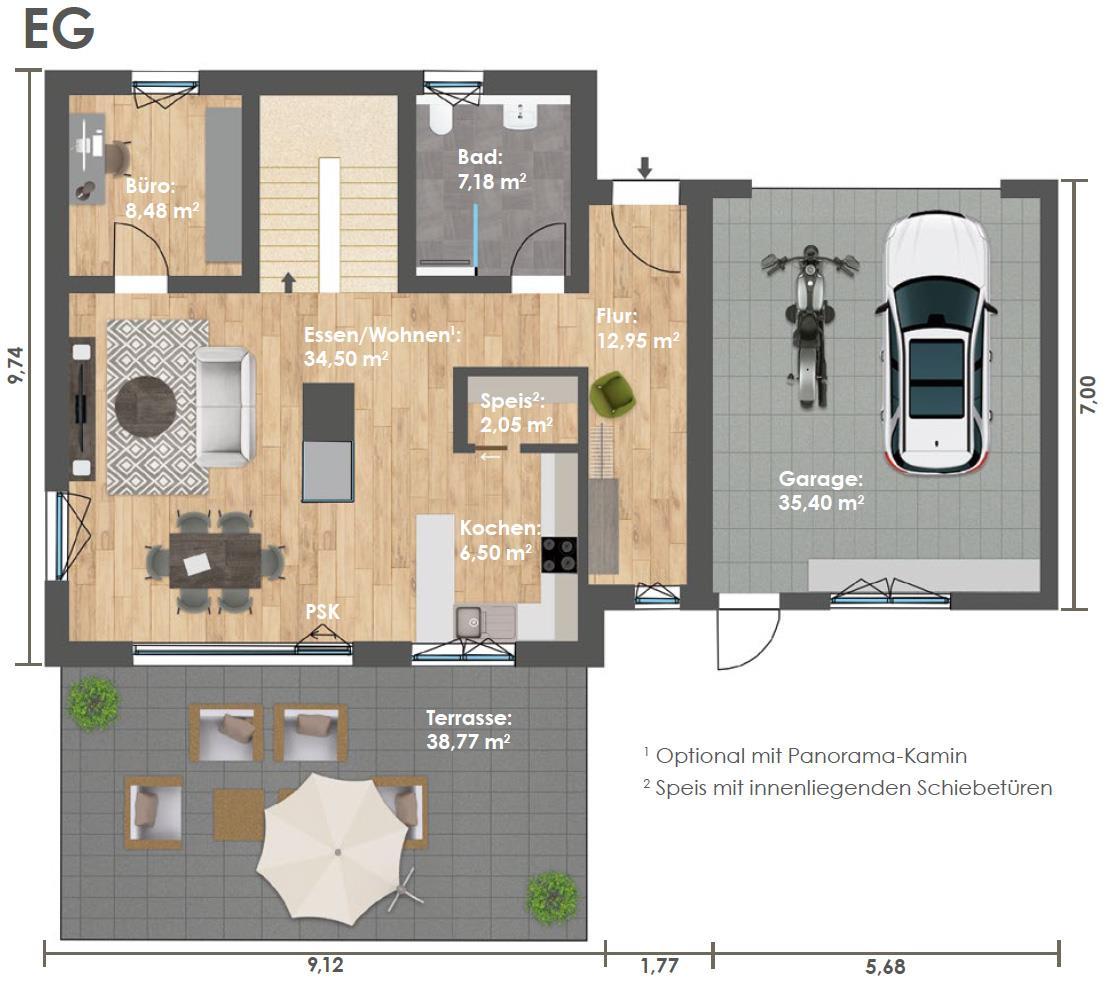Erdgeschoss HAUS 3c