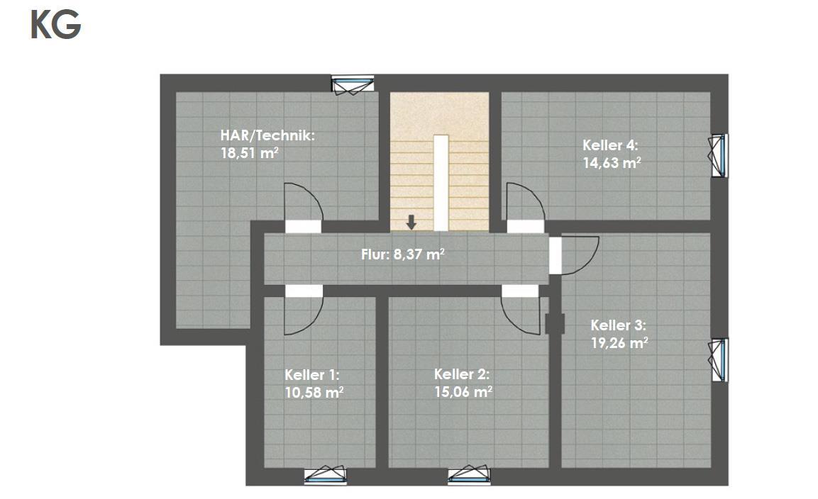 Kellergeschoss HAUS 2b