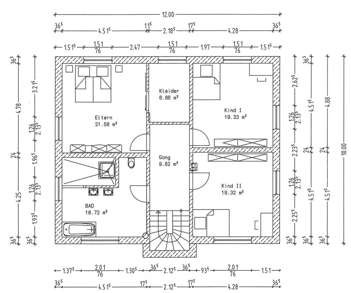Grundriss Dachgeschoss
