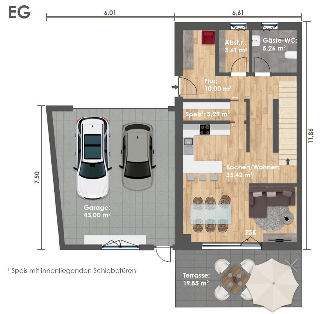 Erdgeschoss DHH A