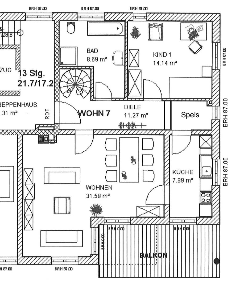 Grundriss W7 Obergeschoss